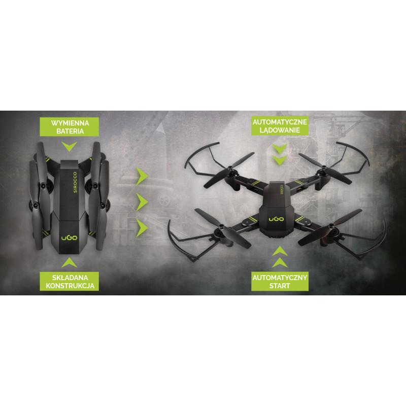 DRONE UGO SIROCCO CAMERA HD 2,4GHZ GYROSCOPE (POST-TEST)