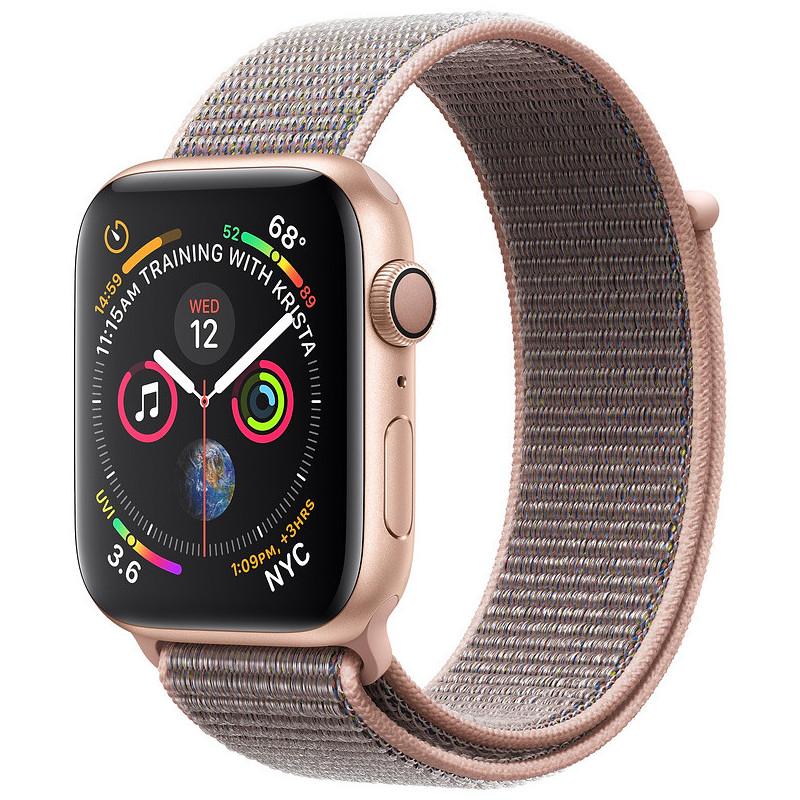 Apple Watch 4 GPS 44mm Sport Loop, pink sand