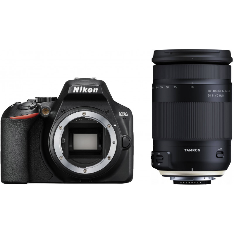 Nikon D3500 + Tamron 18-400mm, black