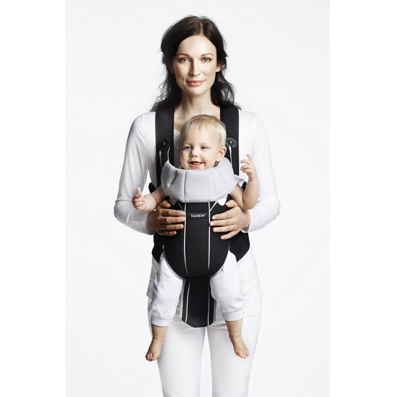 BabyBjörn baby carrier Miracle, black/silver