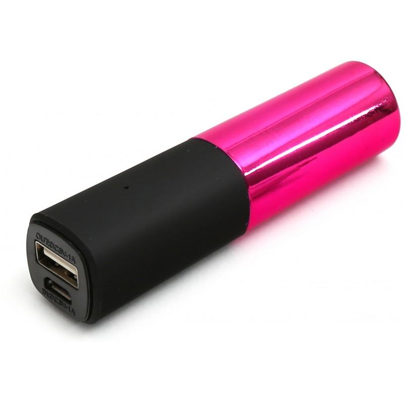Platinet akupank Lipstick 2600mAh, roosa