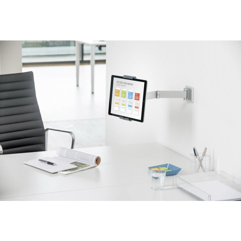 Durable Tablet Holder WALL ARM metallic silver          8934-23