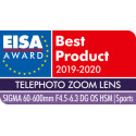 Sigma 60-600mm f/4.5-6.3 DG OS HSM Sports objektiiv Canonile