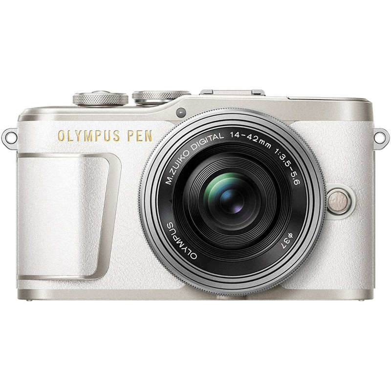 Olympus PEN E-PL9 + 14-42mm EZ Kit, balts/sudrabots
