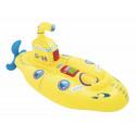 Bestway Unsinkable Submarine Rider, Aufblasware(Yellow / Blue, 153cm x 73cm)