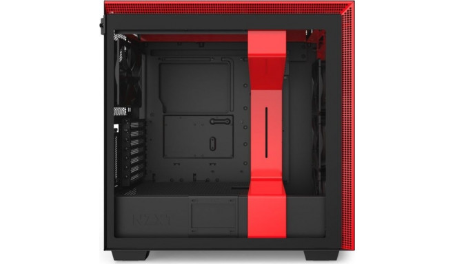 NZXT korpus H710i Window Tower Tempered Glass, must/punane