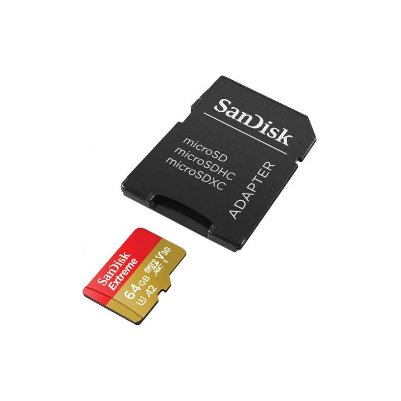 SanDisk mälukaart microSDXC 64GB Extreme Action A2