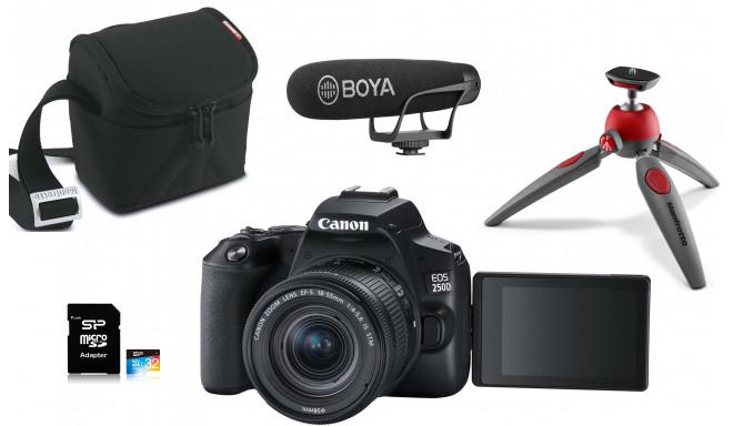 Canon EOS 250D Youtuber Kit, черный