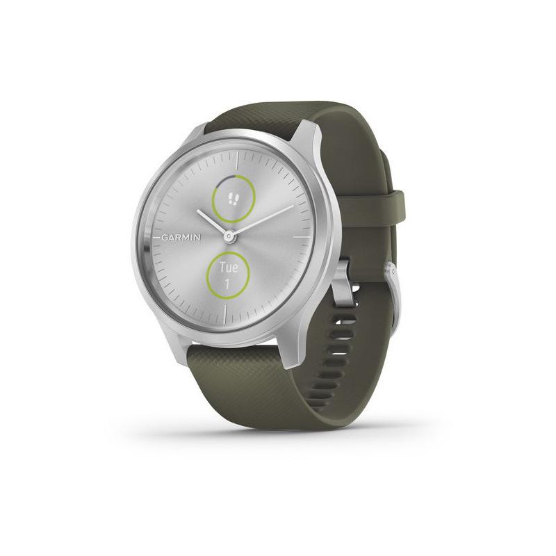 Garmin vivomove Style, silver/moss green