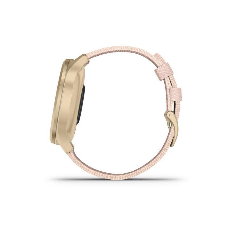Garmin vivomove Style S/E Woven Band, light gold/blush pink