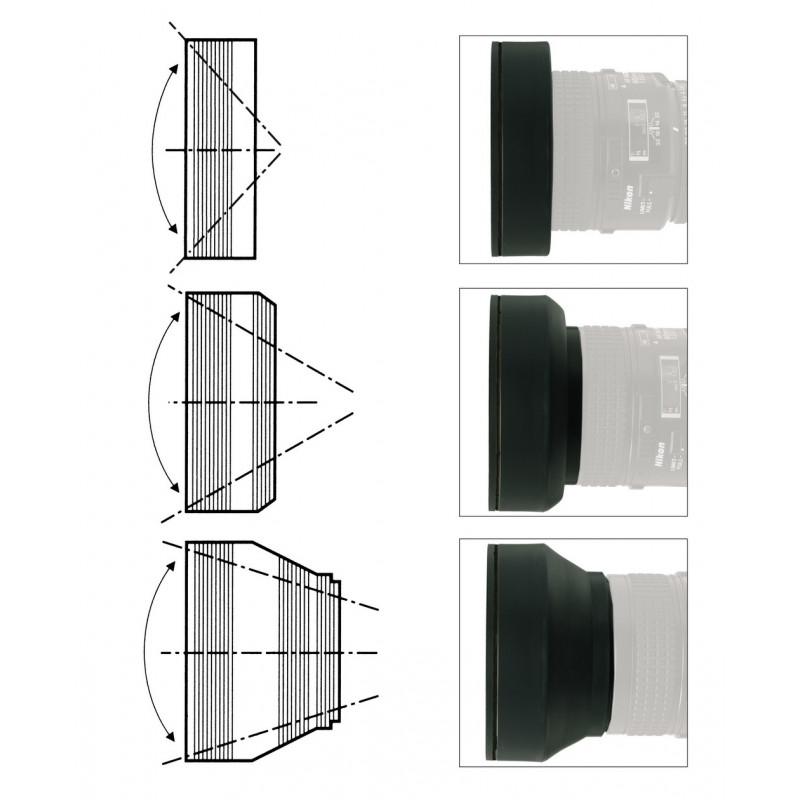 Kaiser 6827 Lens Hood 77mm 3in1