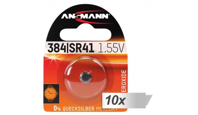Ansmann patarei 384 392 Silveroxid SR41 10x1tk