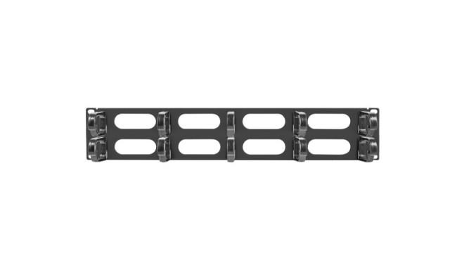 """19"""" CABLE MANAGEMENT AK-1206-B PANEL 10 RINGS - TYPE B 2U BLACK LANBERG"""