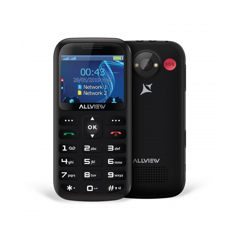 Mobile phone D2 Senior Dual Sim black