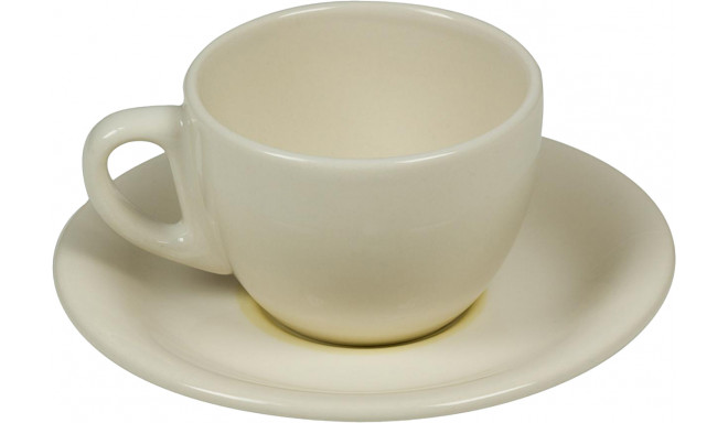 BigBuy Cooking kohviserviis Porcelain 6tk, kollane