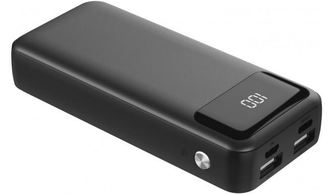 Platinet внешний аккумулятор 10000mAh LCD USB-C, черный