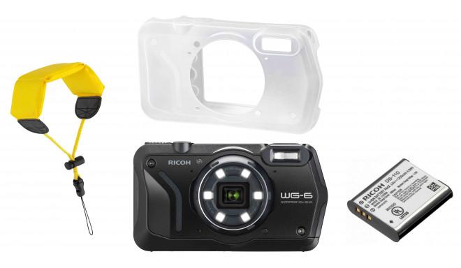 Ricoh WG-6 Kit, melns (rezerves akumulators+ aizsargapvalks + peldošā siksna)