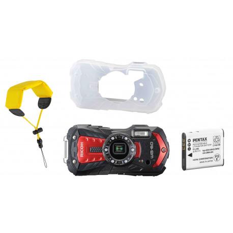 Ricoh WG-60 Kit, sarkans (rezerves akumulators+ aizsargapvalks + peldošā siksna)