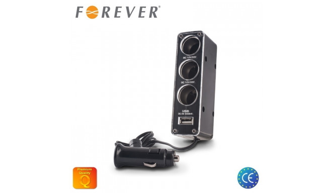 Forever 12/24V Socket splitter + USB 500mAh l