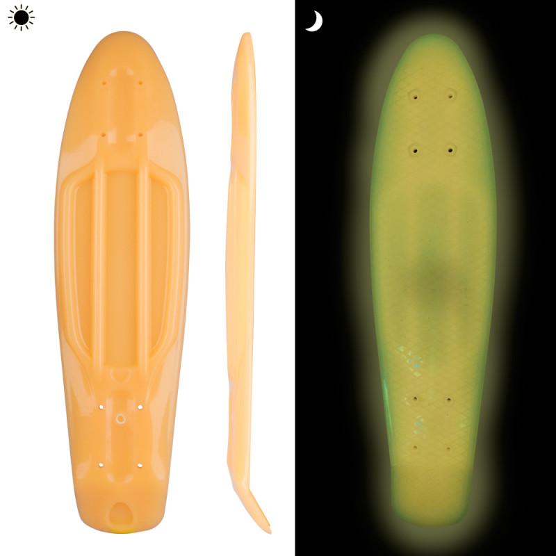 """Glow-in-the-Dark Penny Board Deck WORKER Solosy 22.5*6"""""""