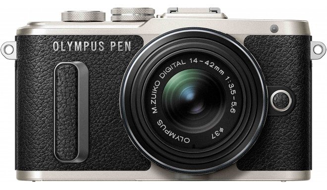 Olympus PEN Lite E-PL8 + 14-42 мм II R Kit, черный
