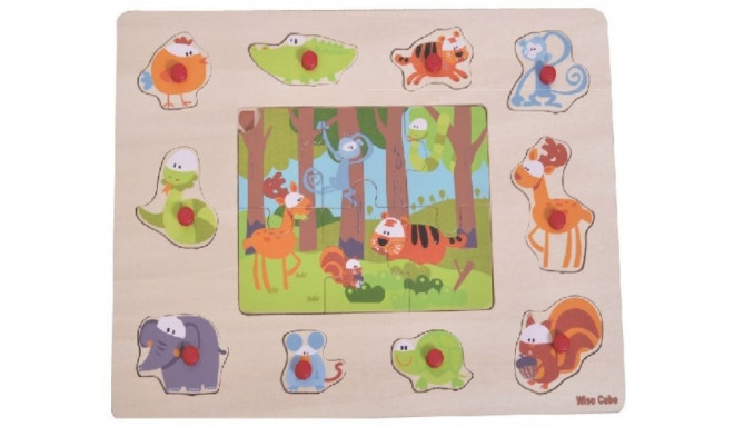 Brimarex TOP BRIGHT Wood en puzzle 2 in1 Forest