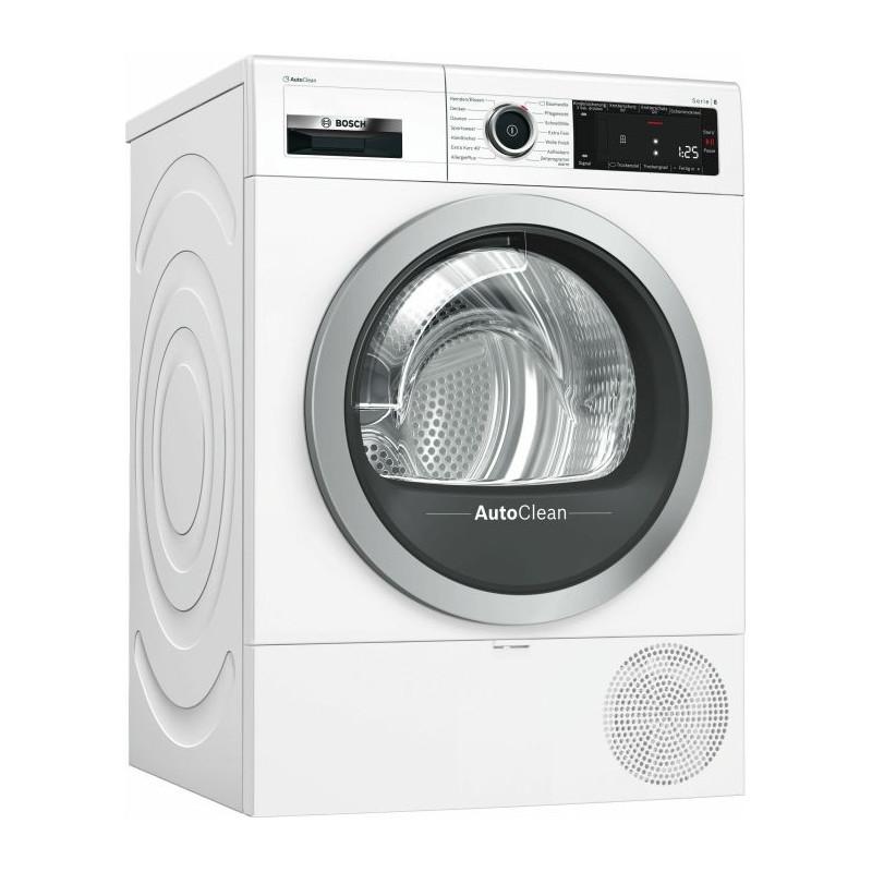 Bosch WTX87M00 series -8, heat pump condenser dryer(White)