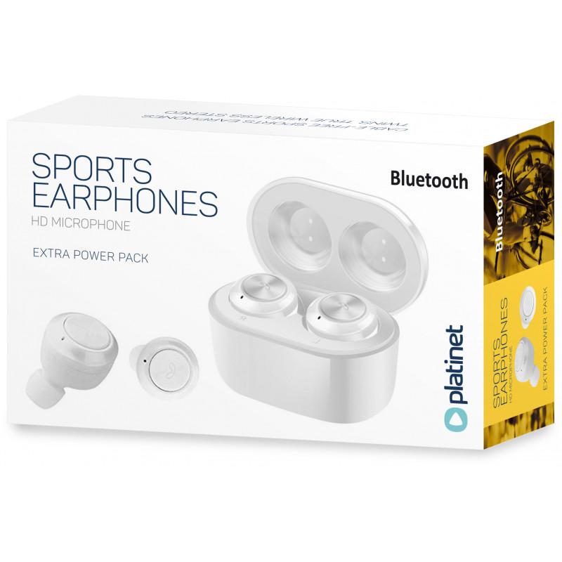 Platinet juhtmevabad kõrvaklapid + mikrofon Sport PM1085, valge