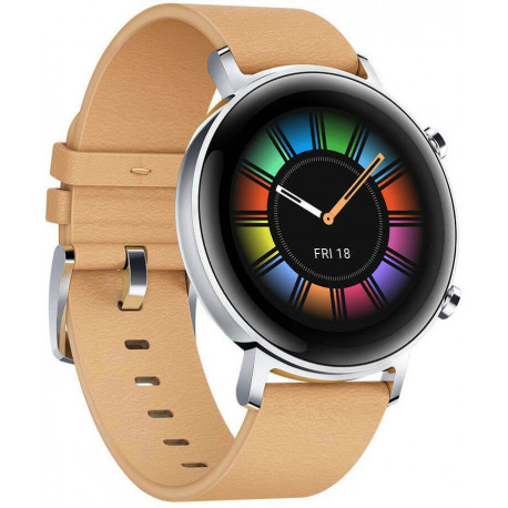 Huawei Watch GT 2 42mm, khaki leather