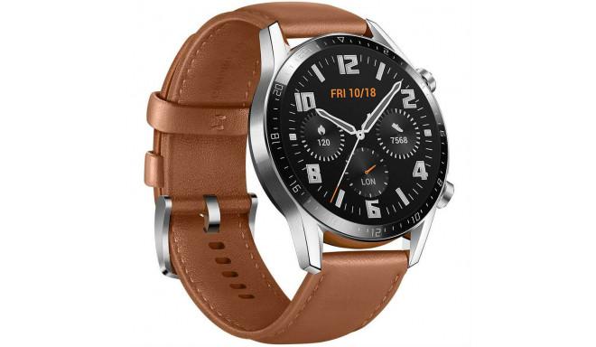 Huawei Watch GT 2 46mm, brūna āda