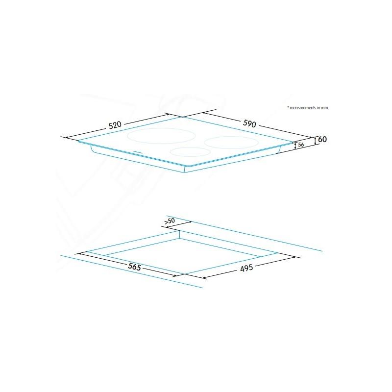 Edesa integreeritav induktsioonpliidiplaat EIM-6330 HT B