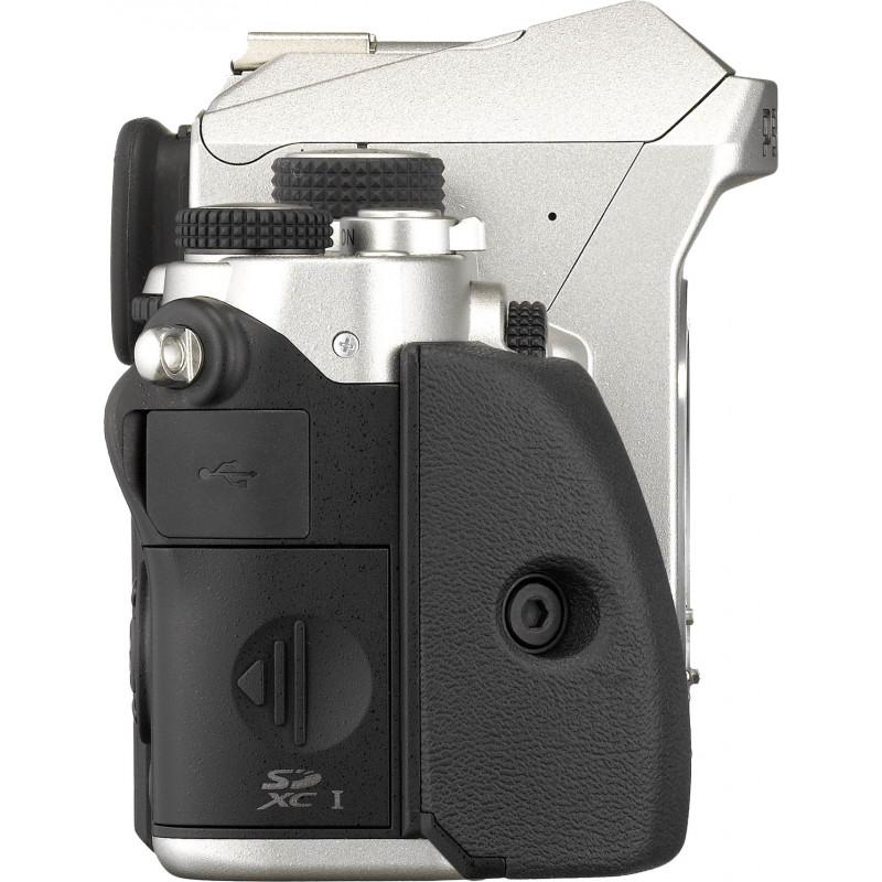 Pentax KP + DA 50mm f/1.8, серебряный