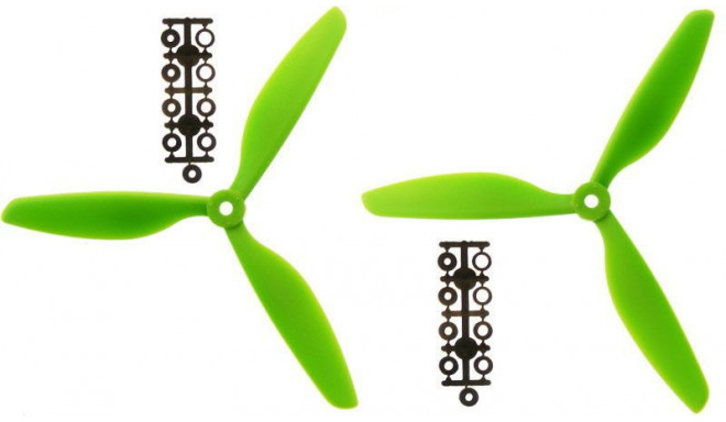 2 propellers set (3-blade) (CW+CCW) 9x4.5 – green