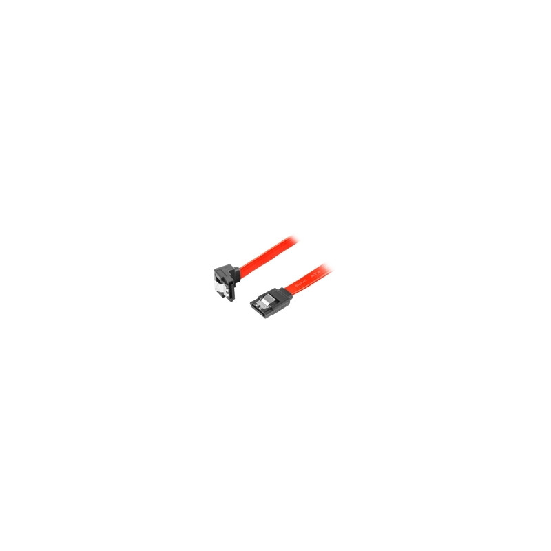 LANBERG CA-SASA-13CC-0100-R Lanberg cable SATA DATA II (3GB/S) F/F 100cm; METAL CLIPS ANGLED RED