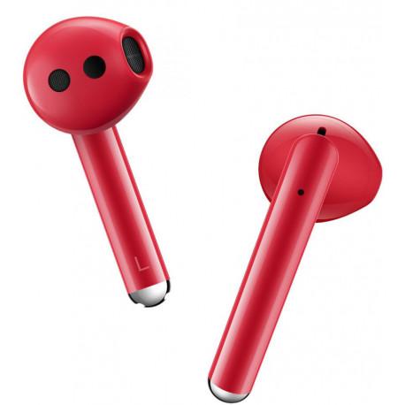 Huawei juhtmevabad kõrvaklapid + mikrofon Freebuds 3, punane