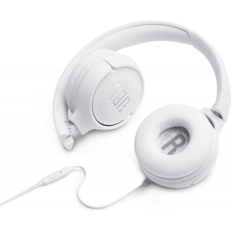 JBL kõrvaklapid + mikrofon Tune 500, valge