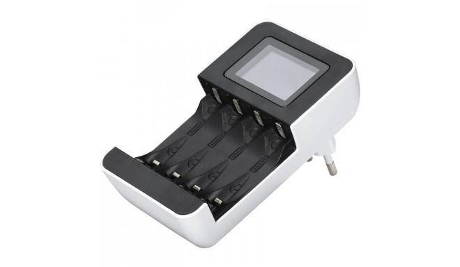 Laadija AA või AAA akudele Hama Delta LCD