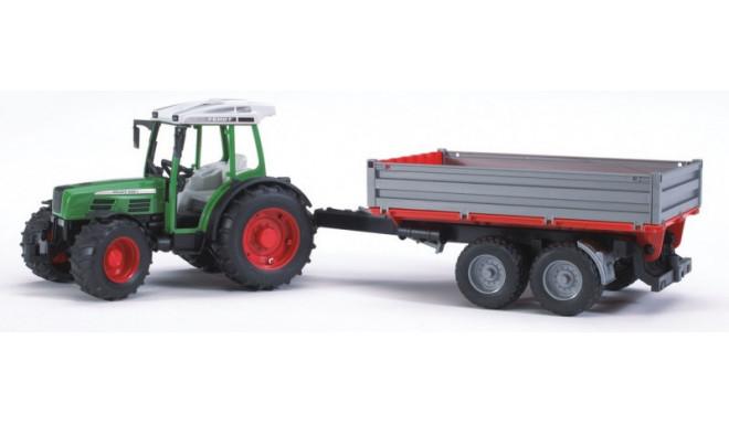 Bruder игрушечный трактор с прицепом (209S)