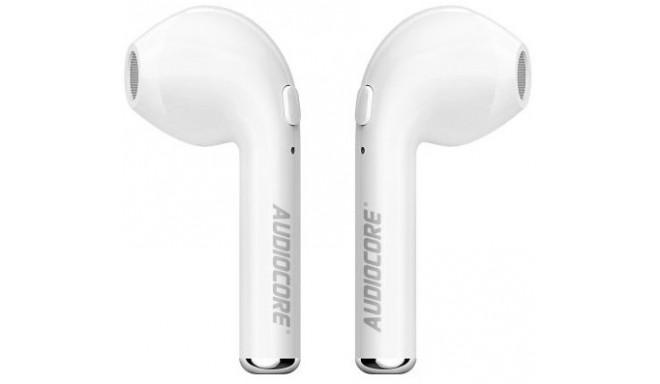 Blackmoon juhtmevabad kõrvaklapid + mikrofon Audiocore i7S True Wireless, valge