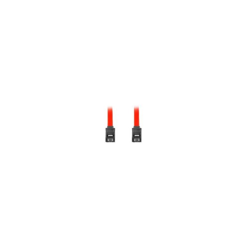 """LANBERG CA-SASA-14CC-0100-R Lanberg cable SATA DATA II (3GB/S) F/F 100cm; METAL CLIPS RED"""