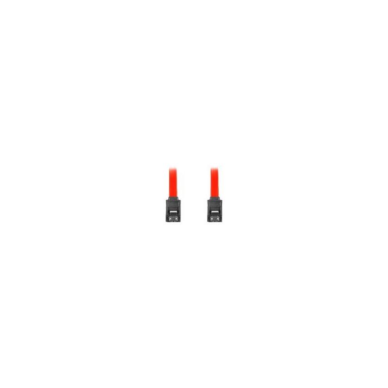 """LANBERG CA-SASA-14CC-0070-R Lanberg cable SATA DATA II (3GB/S) F/F 70cm; METAL CLIPS RED"""