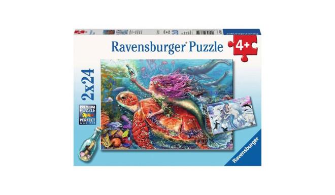 Ravensburger puzzle Mermaid Adventures 2x24pcs
