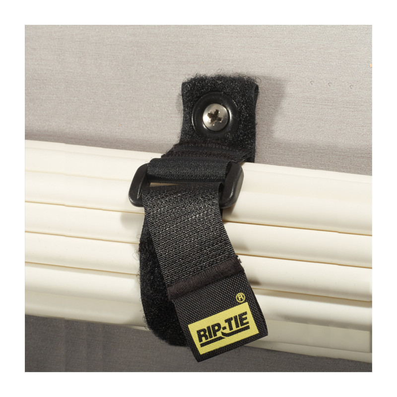 1` x 7` Rip-Tie CinchStrap-EG, 10 Pack, Black