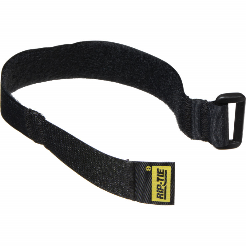 1` x 30` Rip-Tie CinchStrap, 10 Pack, Black