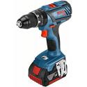 Bosch battery GSB 18V-28 Professional, 18 Volt(blue / black, L-BOXX, 2x Li-ion battery 5.0 Ah)