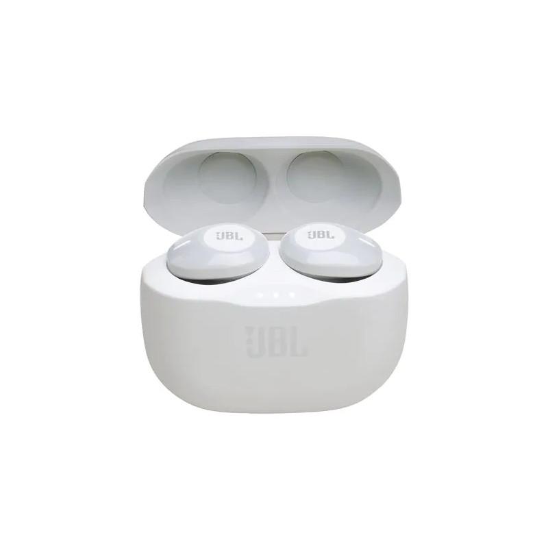 JBL juhtmevabad kõrvaklapid + mikrofon Tune 120, valge