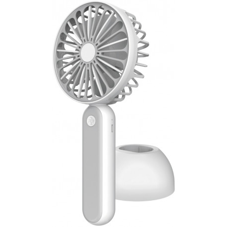 Platinet  вентилятор с аккумулятором 1200mAh, белый/серый (45246)