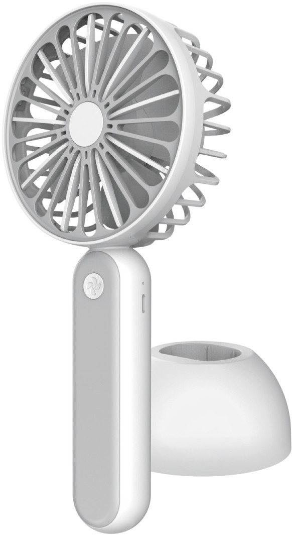 Platinet ventilaator akuga 1200mAh, valge/hall (4..