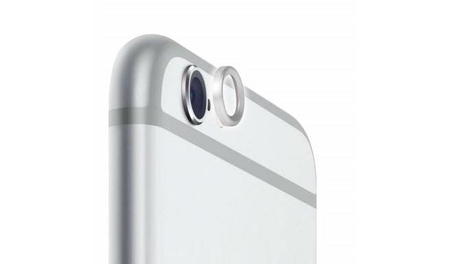 Kaameraklaasi kaitserõngas, Apple iPhone 6 / 6s / 6 Plus / 6s Plus, metallist, hõbedane
