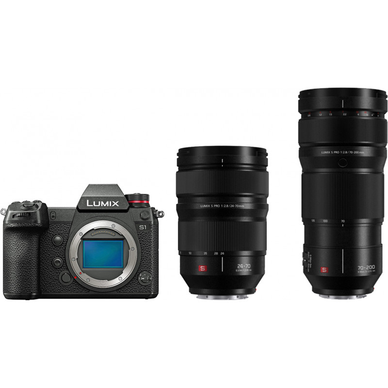 Panasonic Lumix DC-S1 + 24-70mm f/2.8 + 70-200mm f/2.8